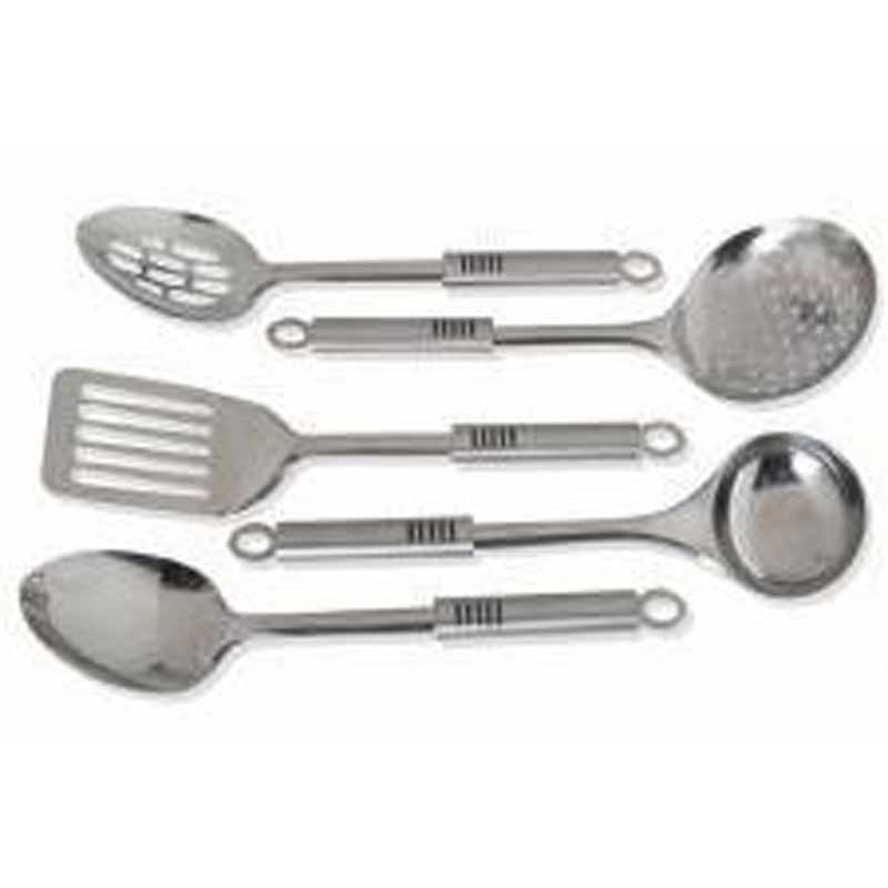 Set Cuisine Inox Of Set De 6 Ustensiles Inox Rubber 32cm