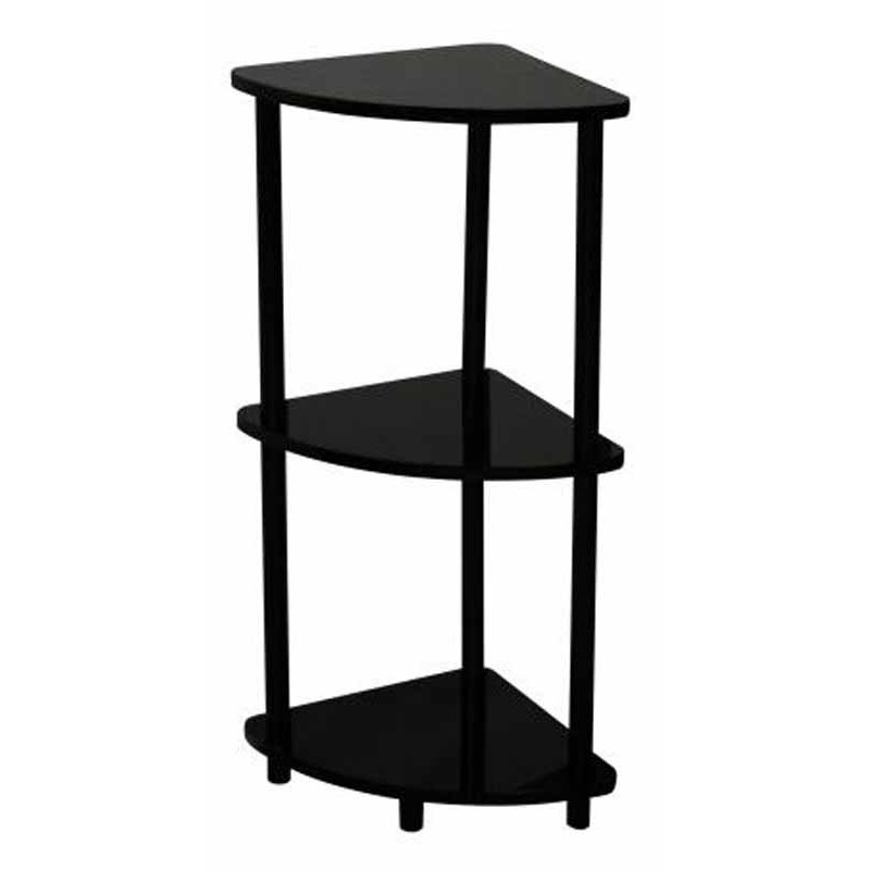 Etag re d 39 angle verny noir for Etagere d angle salon