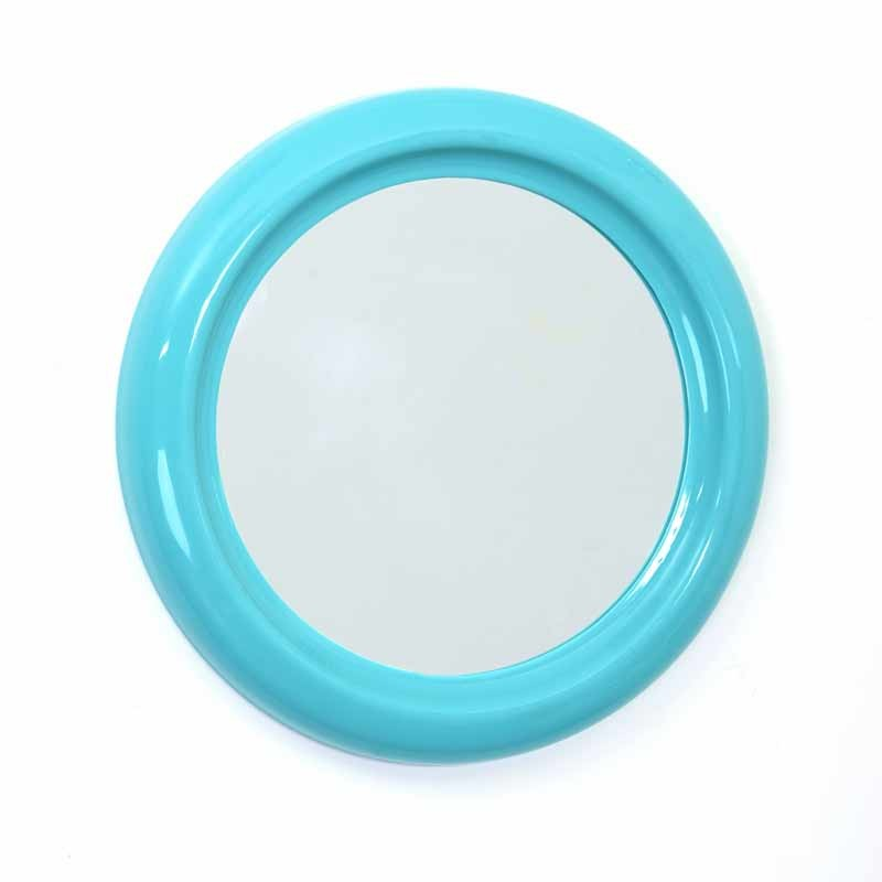 miroir pvc rond 30cm turquoise. Black Bedroom Furniture Sets. Home Design Ideas