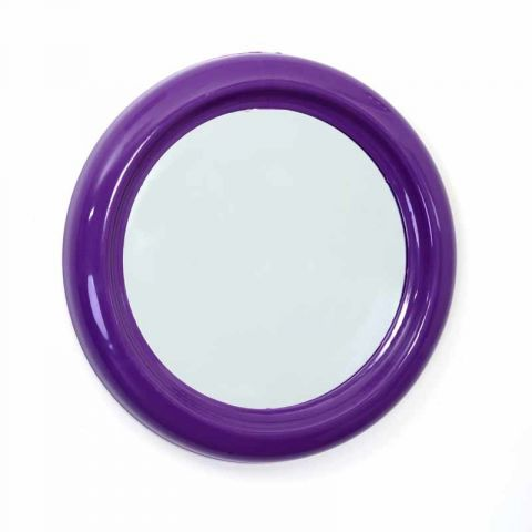 miroir pvc rond 30cm violet. Black Bedroom Furniture Sets. Home Design Ideas