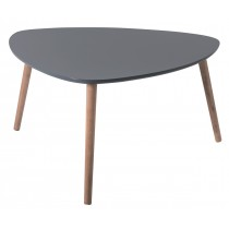 "Table Basse Scandinave ""Kaya"" 80cm Gris"