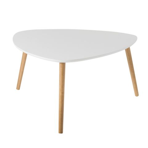 "Table Basse Scandinave ""Kaya"" 80cm Blanc"