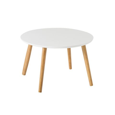 "Table Basse Scandinave ""Kaya"" 58cm Blanc"