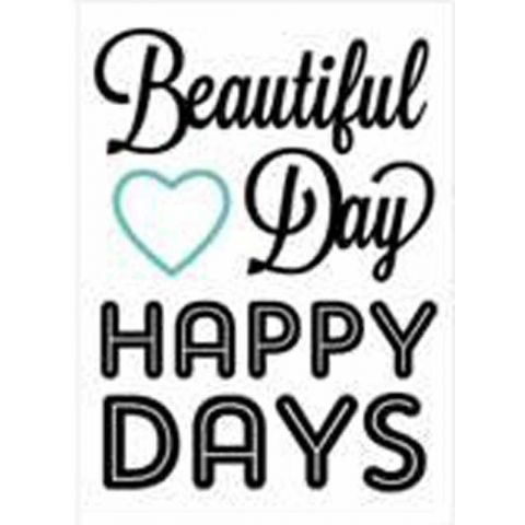 "Stickers Words ""Happy Days"" 50x70cm"