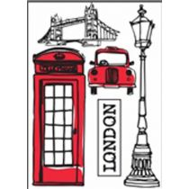 "Stickers Ville ""London"" 50x70cm"