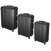 "Lot de 3 Valises ""Confort Line"" 70cm Noir"