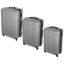 "Lot de 3 Valises ""Confort Line"" 70cm Gris"