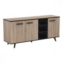 "Buffet 3 Portes & 3 Niches ""Ella"" 160cm Naturel"