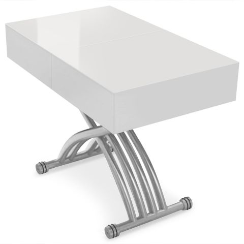 "Table Relevable & Extensible ""Smart"" 90-118cm Blanc"
