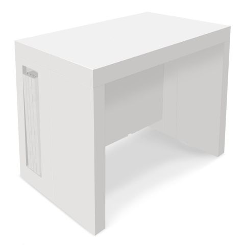 """Table Console Extensible """"Axel"""" 50-300cm Blanc"""