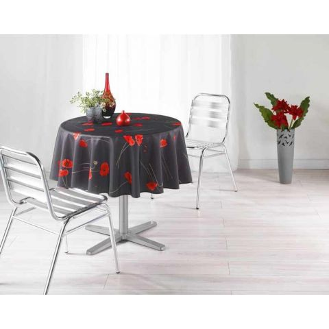 Nappe Polyester 180cm Amapola Anthracite