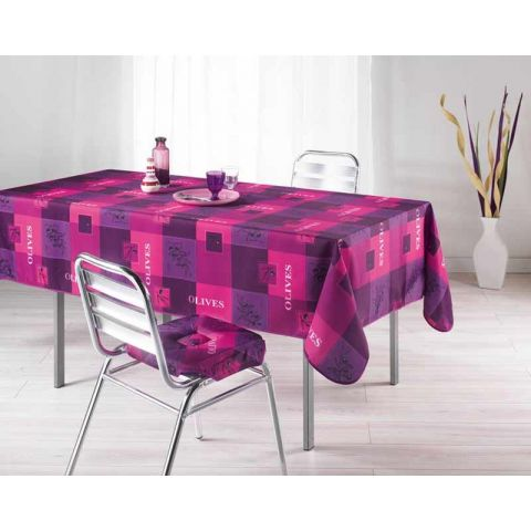 Nappe Polyester 150x240cm Provencia Rose