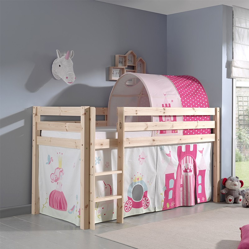 tunnel de lit enfant pino princesse 10cm rose. Black Bedroom Furniture Sets. Home Design Ideas