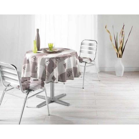 Nappe Polyester 180cm Provencia Taupe