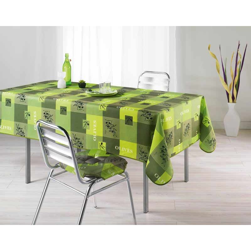 nappe polyester 150x240cm provencia vert anis. Black Bedroom Furniture Sets. Home Design Ideas