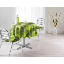 Nappe Polyester 180cm Provencia Vert Anis