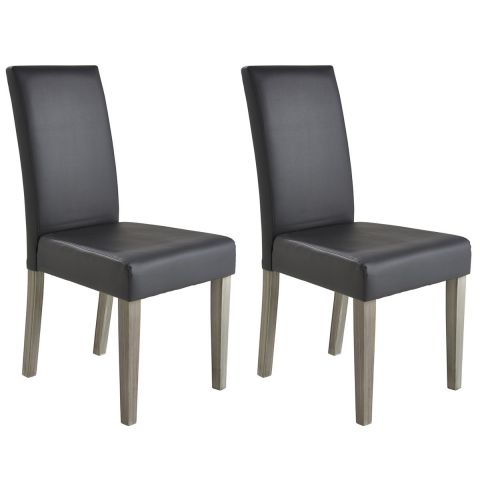 "Lot de 2 Chaises Design ""Julio"" 95cm Gris"