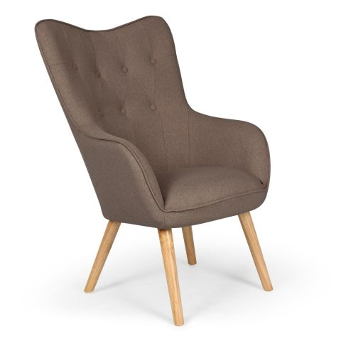 """Fauteuil Scandinave """"Aimee"""" 67cm Taupe"""