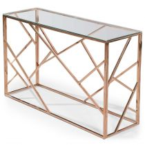 "Console Design Zita"" 120cm Or Rose"