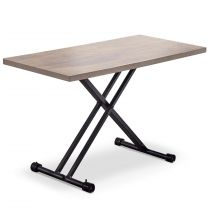 "Table Basse Relevable ""Becca"" 120cm Chêne"