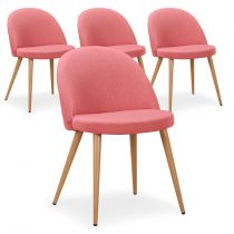 "Lot de 4 Chaises Design ""Morro"" 75cm Rose"