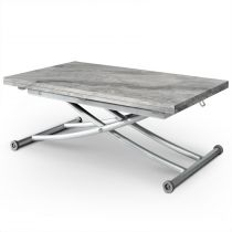 "Table Basse Rectangulaire ""Higher"" 114cm Gris"