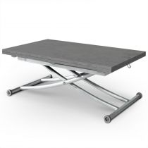 "Table Basse Rectangulaire ""Higher"" 114cm Gris Foncé"