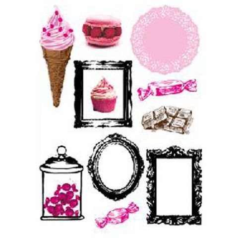 "Stickers 50x70cm ""Cupcake Picture"""