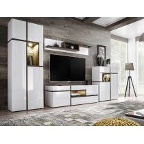 "Meuble TV Design ""Cross"" 310cm Blanc"