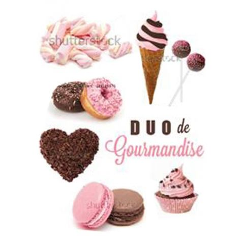 "Magnets 20x28cm ""Duo de Gourmandise"""