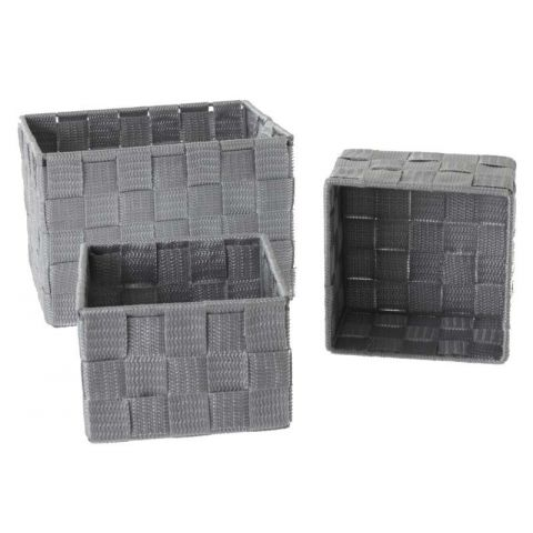 Set de 3 Paniers Rectangulaire Gris