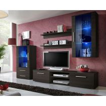 "Meuble TV Design ""Galino X"" 250cm Wengé"