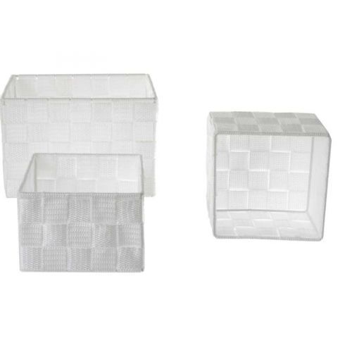 Set de 3 Paniers Rectangulaire Blanc
