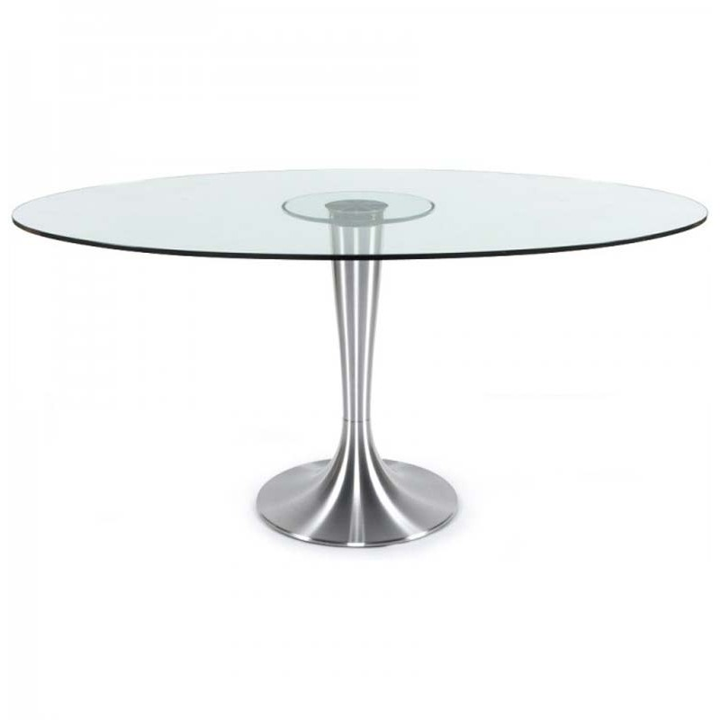 Table de repas design 160cm verre for Table de repas design