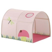 "Tunnel De Lit Enfant ""Pino Spring"" 10cm Rose"