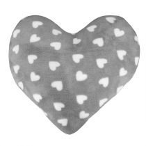 """Coussin Coeur """"Sweet Lovely"""" 40x40cm Gris"""