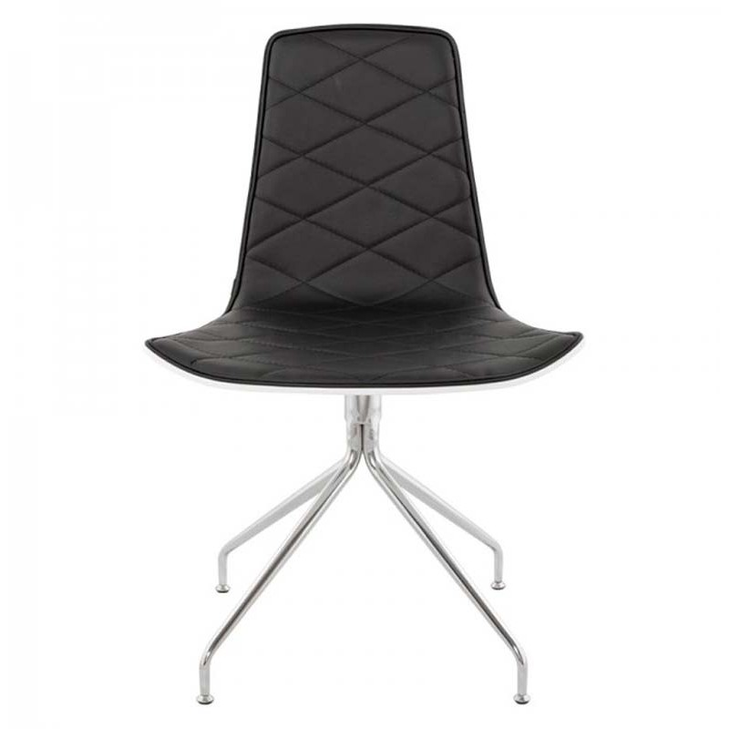 Chaise design coco noir et blanc for Chaise noir blanc