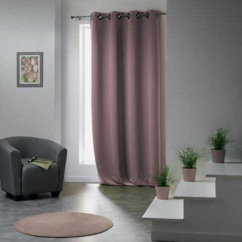 "Rideau Occultant ""Cocoon"" 140x260cm Taupe"