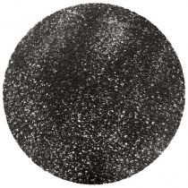 "Set de Table Rond ""Tortilla"" 38cm Noir"