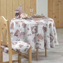 "Nappe Ronde ""Cosy Home"" 180cm Taupe"