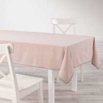 "Nappe Rectangulaire ""Femina"" 140x240cm Rose Dragée"