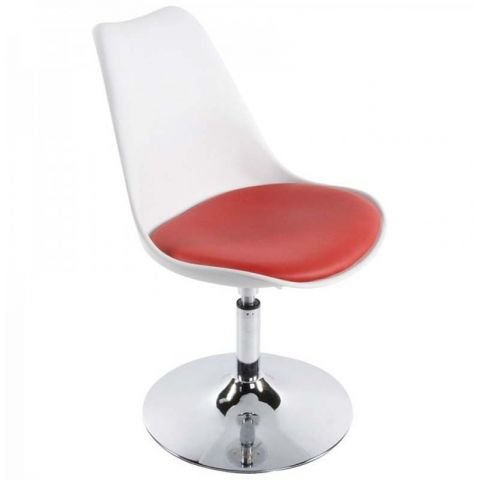 """Fauteuil Design """"Cosmo"""" 85cm Blanc & Rouge"""