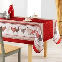 "Nappe Antitache ""Picoti"" 150x200cm Rouge"
