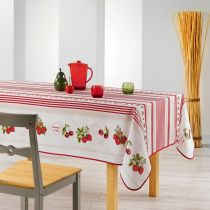 "Nappe Antitache ""Fruits Rouges"" 150x200cm Rouge"