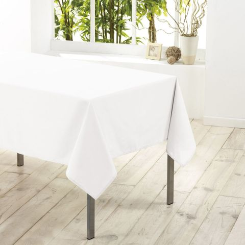 "Nappe Antitache ""Essentiel"" 140x250cm Blanc"