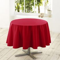 "Nappe Ronde Antitache ""Essentiel"" 180cm Rouge"
