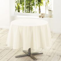 "Nappe Ronde Antitache ""Essentiel"" 180cm Naturel"