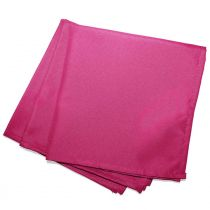 "Lot de 3 Serviettes de Table ""Essentiel"" 40x40cm Fuchsia"