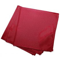 "Lot de 3 Serviettes de Table ""Essentiel"" 40x40cm Rouge"