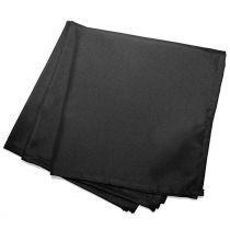 "Lot de 3 Serviettes de Table ""Essentiel"" 40x40cm Noir"